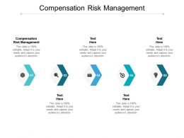 Compensation Risk Management Ppt Powerpoint Presentation Styles Design Inspiration Cpb