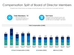 Compensation Split Of Board Of Director Members