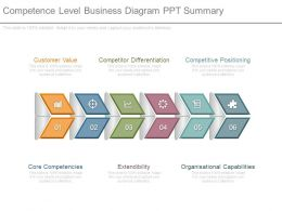 Competence Level Business Diagram Ppt Summary