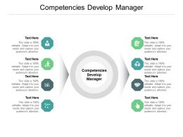 Competencies Develop Manager Ppt Powerpoint Presentation Pictures Outfit Cpb