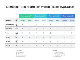 Competencies Matrix For Project Team Evaluation