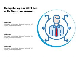 Competency And Skill Set With Circle And Arrows