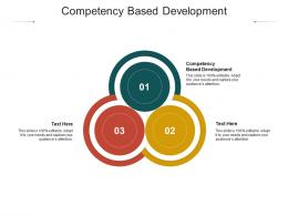 Competency Based Development Ppt Powerpoint Presentation Infographic Template Skills Cpb