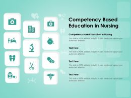 Competency Based Education In Nursing Ppt Powerpoint Presentation Infographic