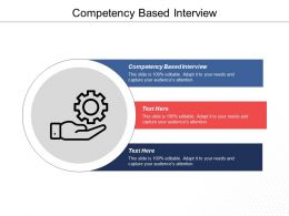 Competency Based Interview Ppt Powerpoint Presentation File Infographic Template Cpb