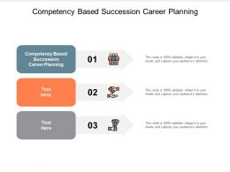 Competency Based Succession Career Planning Ppt Powerpoint Presentation Infographics Skills Cpb