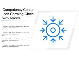 Competency Center Icon Showing Circle With Arrows