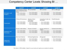 Competency Center Levels Showing Bi Performance Stages