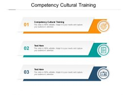 Competency Cultural Training Ppt Powerpoint Presentation Ideas Graphics Cpb