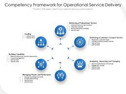 Competency Framework For Operational Service Delivery