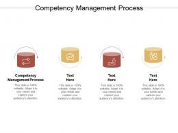 Competency Management Process Ppt Powerpoint Presentation Ideas Structure Cpb