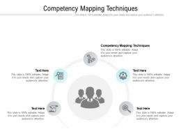 Competency Mapping Techniques Ppt Powerpoint Presentation Show Slides Cpb