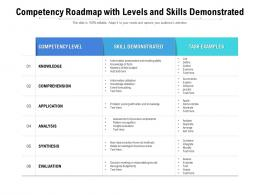 Competency Roadmap With Levels And Skills Demonstrated