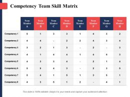 Competency Team Skill Matrix Team Member Ppt Ideas Skills