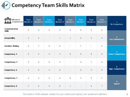 Competency Team Skills Matrix Communication Ppt Powerpoint Presentation Portfolio