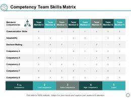 Competency Team Skills Matrix Ppt Powerpoint Presentation Layouts Diagrams