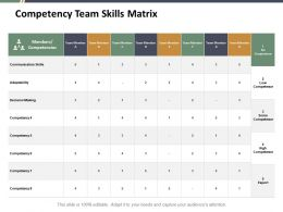 Competency Team Skills Matrix Ppt Summary Design Inspiration