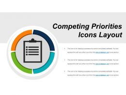Competing Priorities Icons Layout PowerPoint Images