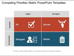 Competing Priorities Matrix PowerPoint Templates