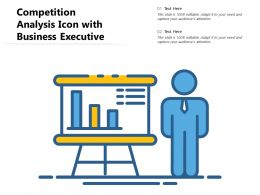 Competition Analysis Icon With Business Executive