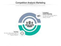 Competition Analysis Marketing Ppt Powerpoint Presentation Icon Rules Cpb