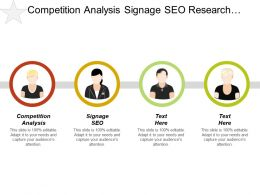 Competition Analysis Signage Seo Research Sales Techniques Productivity