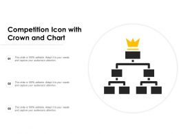 Competition Icon With Crown And Chart