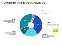 Competition Market Share Analysis 1 2 Ppt Powerpoint Presentation Gallery Files