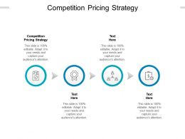 Competition Pricing Strategy Ppt Powerpoint Presentation Icon Ideas Cpb
