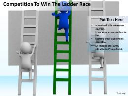 Competition To Win The Ladder Race Ppt Graphics Icons Powerpoint