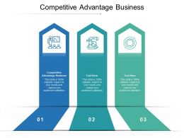 Competitive Advantage Business Ppt Powerpoint Presentation Inspiration Templates Cpb
