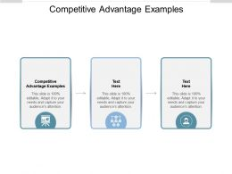 Competitive Advantage Examples Ppt Powerpoint Presentation Styles Format Ideas Cpb