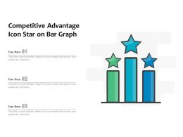 Competitive Advantage Icon Star On Bar Graph