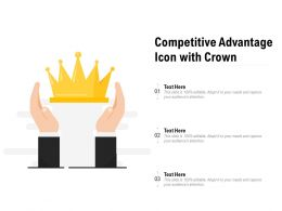 Competitive Advantage Icon With Crown