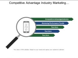 Competitive Advantage Industry Marketing Performance Toolkit Marketing Activity