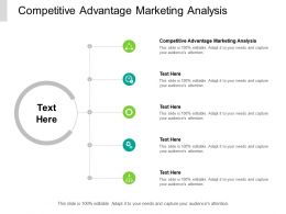 Competitive Advantage Marketing Analysis Ppt Powerpoint Presentation Pictures Grid Cpb