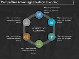 Competitive Advantage Strategic Planning Powerpoint Layout