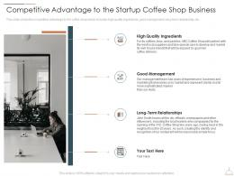 Competitive Advantage To The Startup Coffee Shop Business Restaurant Cafe Business Idea Ppt Pictures
