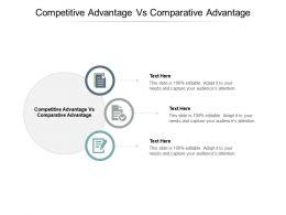 Competitive Advantage Vs Comparative Advantage Ppt Powerpoint Presentation Visual Aids Pictures Cpb
