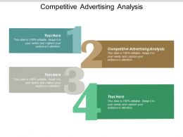 Competitive Advertising Analysis Ppt Powerpoint Presentation Model Objects Cpb