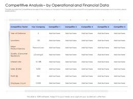 Competitive Analysis By Operational And Financial Data Mezzanine Capital Funding Pitch Deck Ppt Ideas