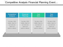 Competitive Analysis Financial Planning Event Management Content Management System Cpb