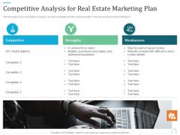 Competitive Analysis For Real Estate Marketing Plan Marketing Plan For Real Estate Project