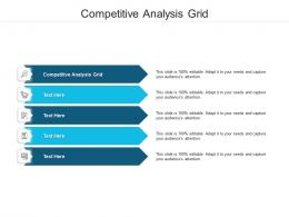 Competitive Analysis Grid Ppt Powerpoint Presentation Gallery Backgrounds Cpb