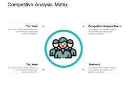 Competitive Analysis Matrix Ppt Powerpoint Presentation Pictures Format Cpb