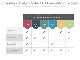 Competitive Analysis Matrix Ppt Presentation Examples