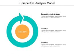 Competitive Analysis Model Ppt Powerpoint Presentation Pictures Deck Cpb