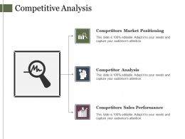 Competitive Analysis Powerpoint Slide Deck Template