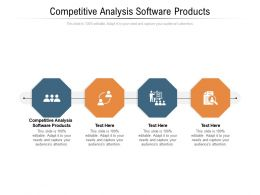 Competitive Analysis Software Products Ppt Powerpoint Presentation Portfolio Visual Aids Cpb