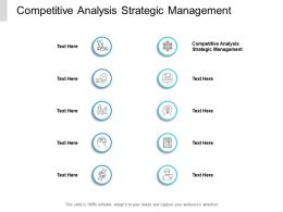 Competitive Analysis Strategic Management Ppt Powerpoint Presentation Professional Cpb